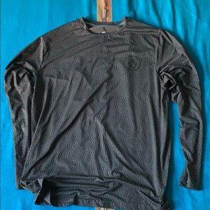 Volcom l/s rash guard, black/grey, s XL